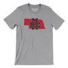 Nebraska Home State Map Men/Unisex T-Shirt-Allegiant Goods Co.