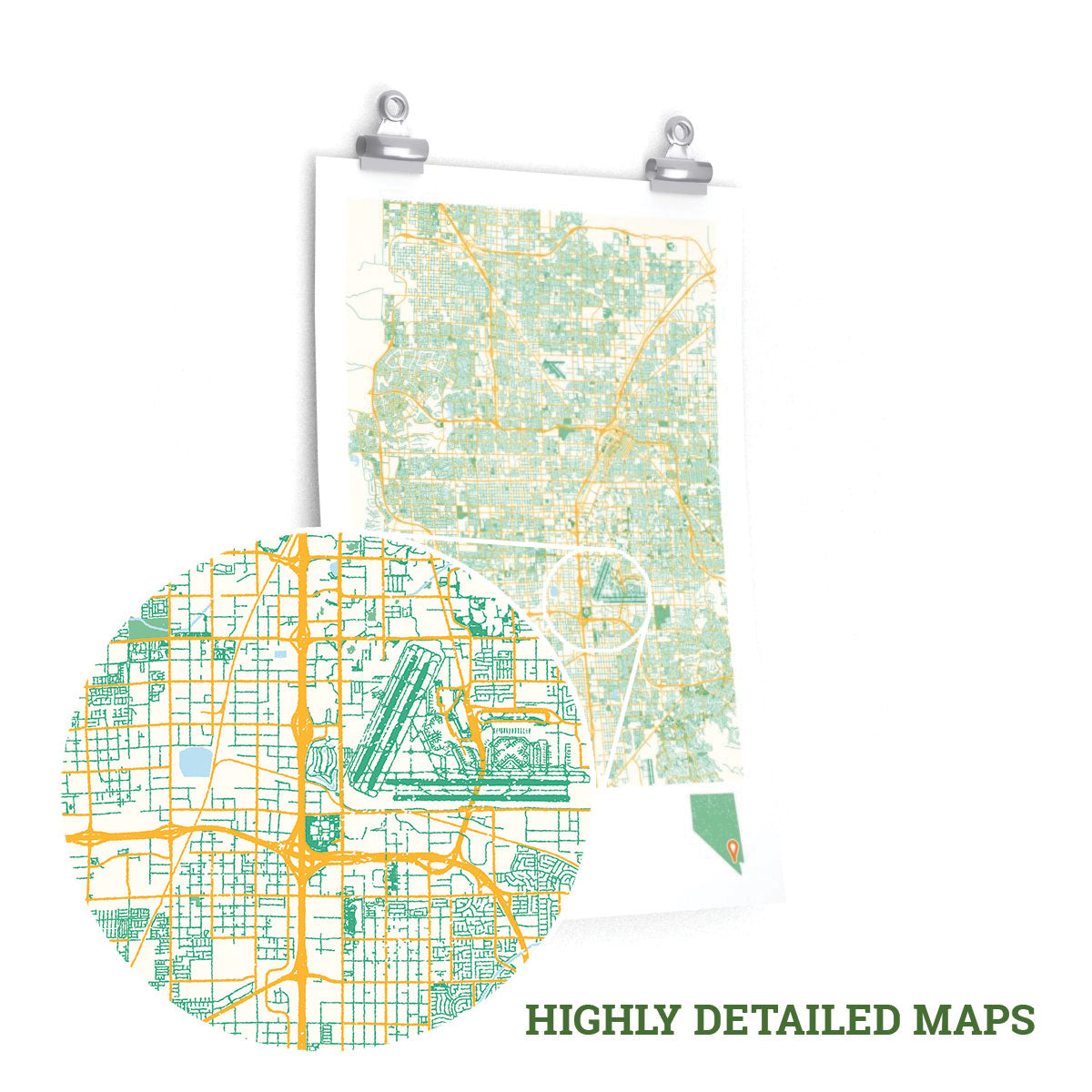 Aurora Colorado City Street Map Poster