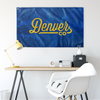 Denver Colorado Wall Flag (Royal Blue & Yellow)-Allegiant Goods Co.