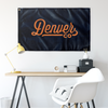 Denver Colorado Wall Flag (Blue & Orange)-Allegiant Goods Co.