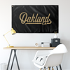 Oakland California Wall Flag (Black & Gold)-Allegiant Goods Co.