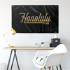Honolulu Hawaii Wall Flag (Black & Gold)-Allegiant Goods Co.