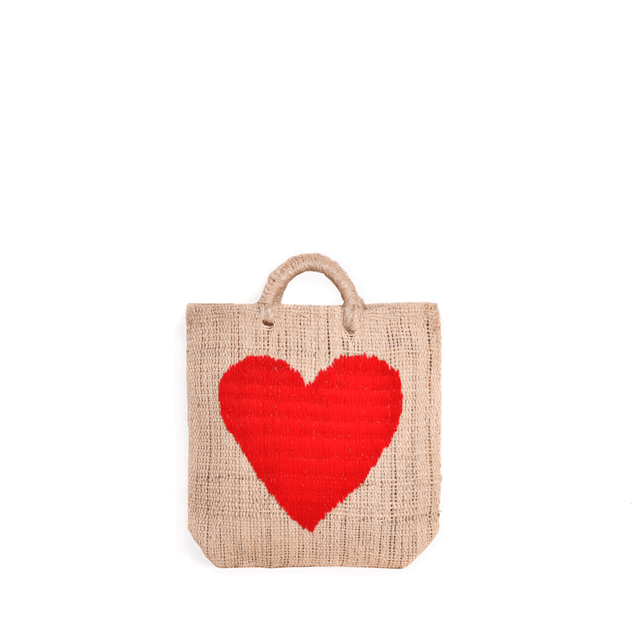 Acalli Heart Straw Bag Medium