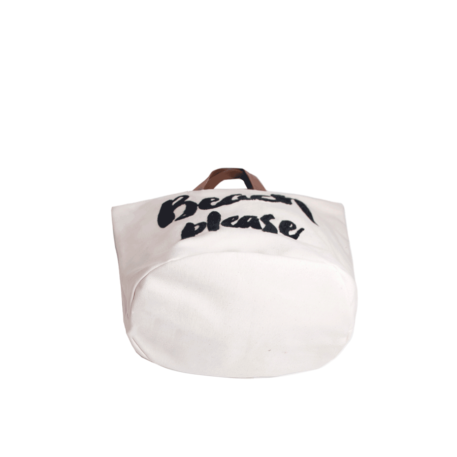 Please Beach Bag Black