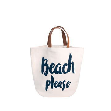 Please Beach Bag Navy