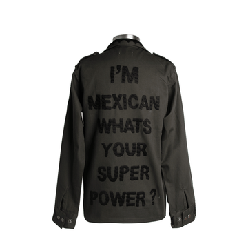Military Jacket Mexican Super Power Black