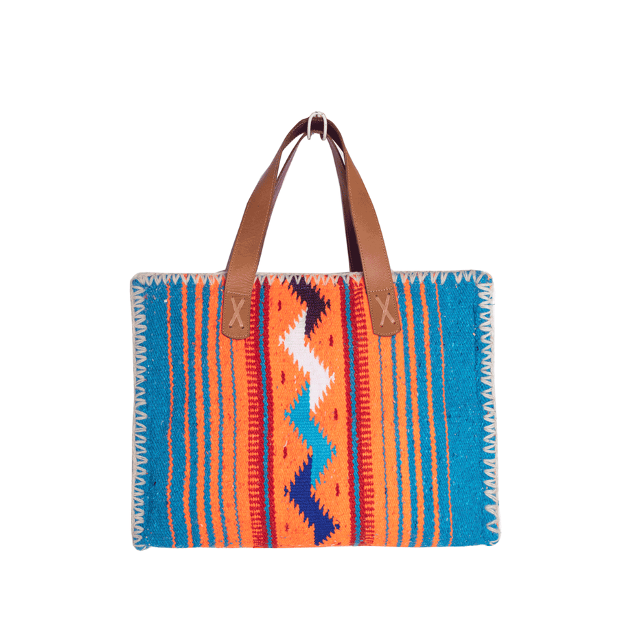 Carmen Sarape Bag Neon and Blue