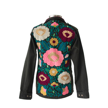 Golden Flowers Military Jacket