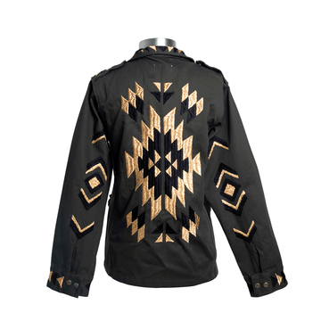 Black and Gold Navajo Military Jacket