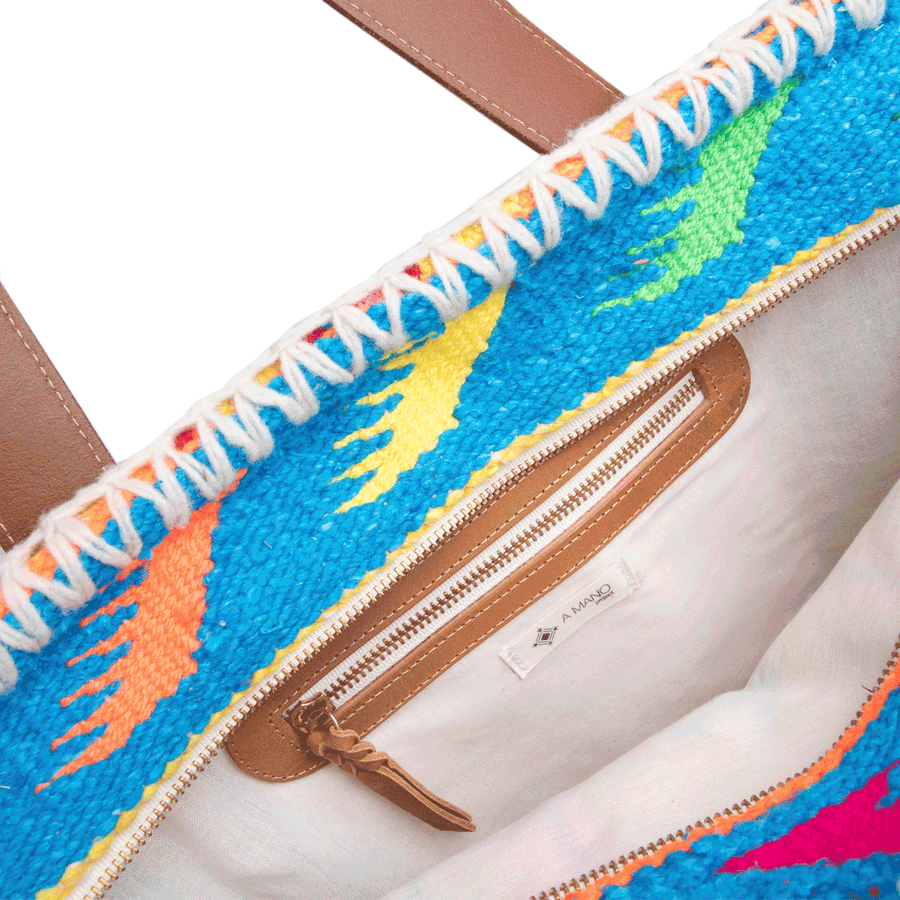 Blue and Yellow Carmen Sarape Bag