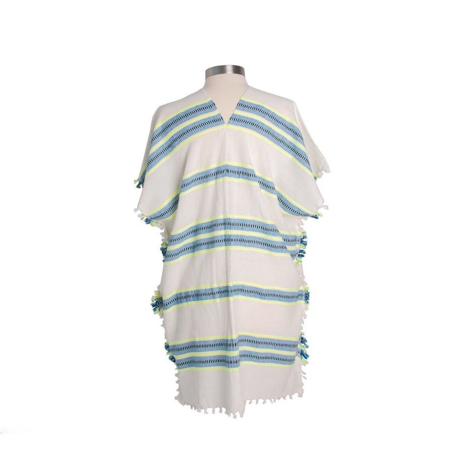 Kaftan Dress Neon Blue