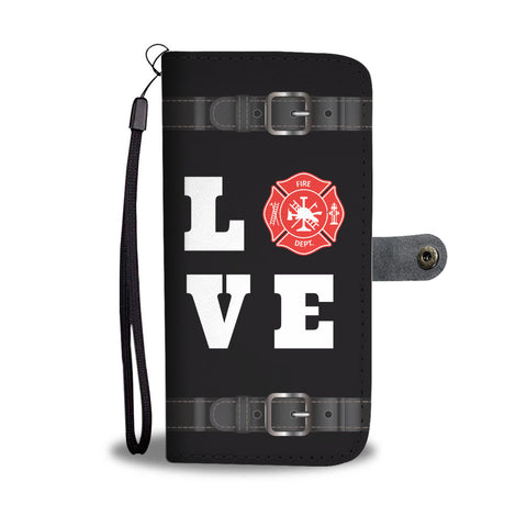 Love Firefighter Wallet Phone Case