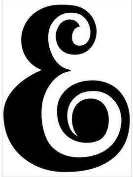 Darice - Embossing Folder - Ampersand