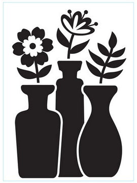 Darice - Embossing Folder - Vase Trio With Buds