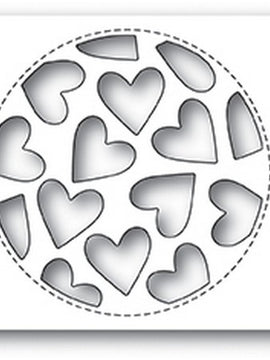 Poppystamps - Dies - Tumbled Heart Collage