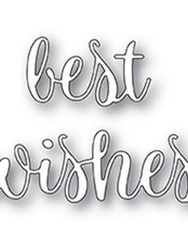 Poppystamps - Dies - Best WIshes Folksy Script