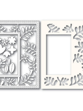 Poppystamps - Dies - Fun Floral Sidekick Frame and Stencil