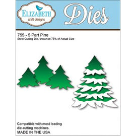 Elizabeth Craft Designs - Dies - 5 Part Pine