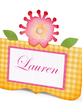 Sizzix Bigz Die - Place Card w/Flower