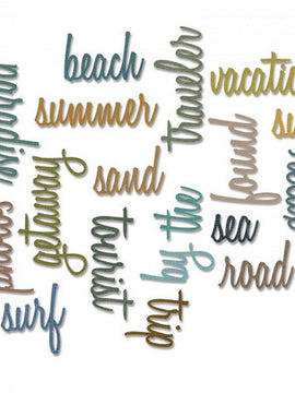Sizzix - Sizzlits - Tim Holtz - Vacation Words: Script