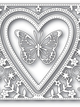 Memory Box - Dies - Butterfly Heart Frame
