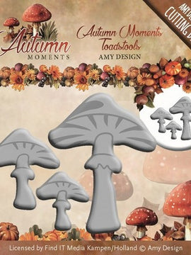 Amy Design - Dies - Autumn Moments - Toadstools