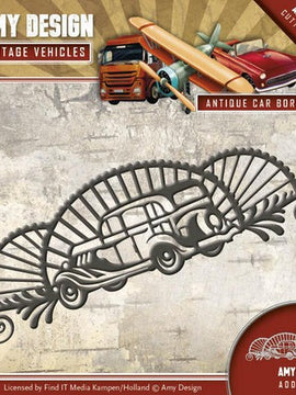 Amy Design - Dies - Vintage Vehicles - Antique  Car Border