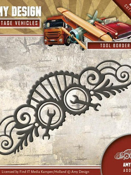 Amy Design - Dies - Vintage Vehicles - Tool Border