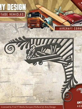 Amy Design - Dies - Vintage Vehicles - Aircraft Corner