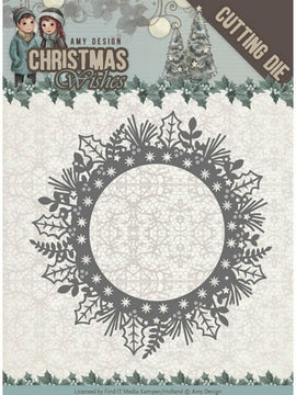 Amy Design - Dies - Christmas Wishes - Holly Wreath