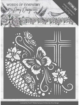 Amy Design - Dies - Words Of Sympathy - Cross Frame