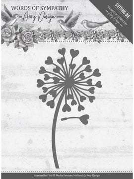 Amy Design - Dies - Words Of Sympathy - Sympathy Flower