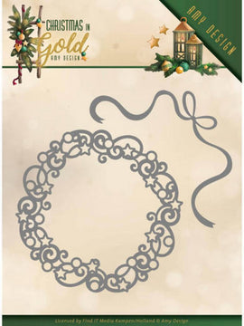 Amy Design -Dies - Christmas In Gold - Christmas Wreath