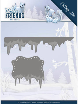 Amy Design - Dies - Winter Friends - Ice Border