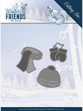 Amy Design - Dies - Winter Friends - Warm Winter Clothes