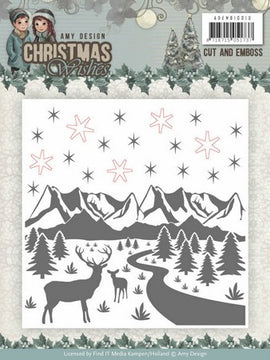 Amy Design - Embossing Folder - Christmas Wishes