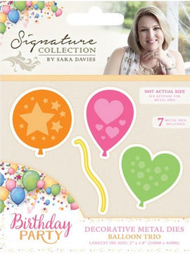 Crafter's Companion - Birthday Party Dies - Balloon Trio