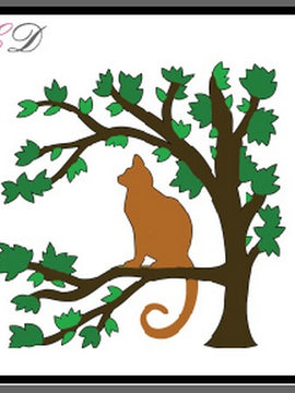 Cheapo Dies - Cat Sitting On Tree