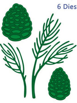 Sue Wilson Designs - Woodland Collection - Pine Cone & Greenery