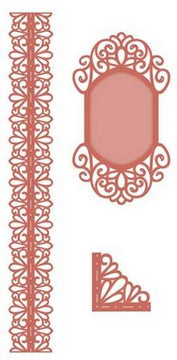 Sue Wilson Designs - Scandinavian Collection - Corner, Border, tag