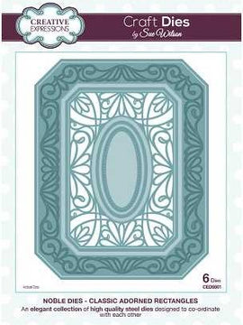 Sue Wilson Designs - Noble Collection - Classic Adorned Rectangles
