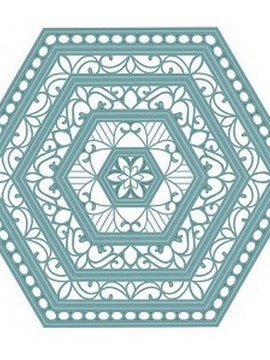 Sue Wilson Designs - Noble Collection - Classic Adorned Hexagon