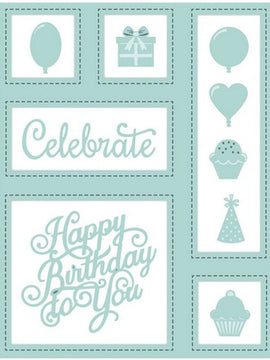 Sue Wilson Designs - Shadow Boxes -  Birthday