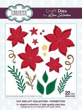 Creative Expressions - Cut & Lift Collection - Poinsettias