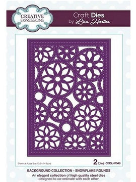 Creative Expressions - Background Collection - Snowflake Rounds