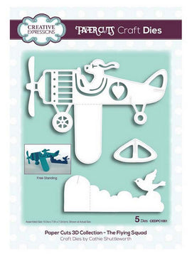 Creative Expressions - Paper Cuts 3D Collection - The Flying Squad