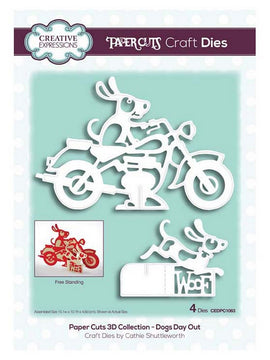 Creative Expressions - Paper Cuts 3D Collection - Dogs Day Out