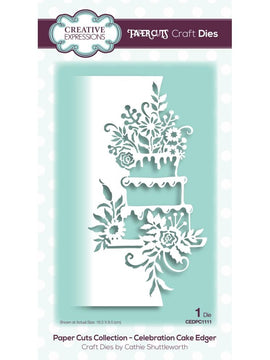 Creative Expressions - Dies - Paper Cuts Collection - Celebration Cake Edger