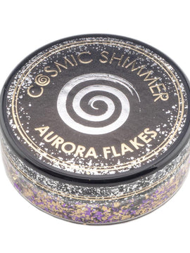 Cosmic Shimmer Aurora Flakes 50ml - Purple Dawn