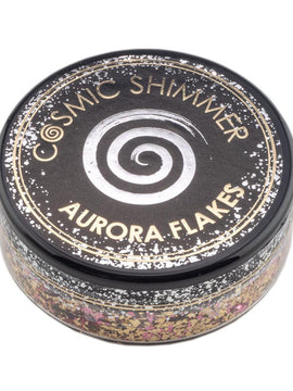 Cosmic Shimmer Aurora Flakes 50ml - Golden Rose